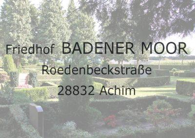 Friedhof BADENER MOOR